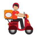 icon reprezinta curier pe scuter